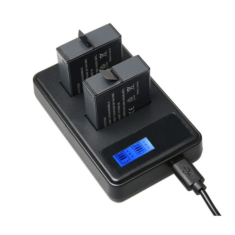 LCD Dual Usb Battery Charger for Gopro Hero 5 Actioncamera Accessories AHDBT-501