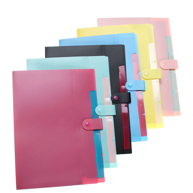 Paper Files Document Holder Folder Storage Binder Pouch Package for A4 Paper 4 Inter Layers Design