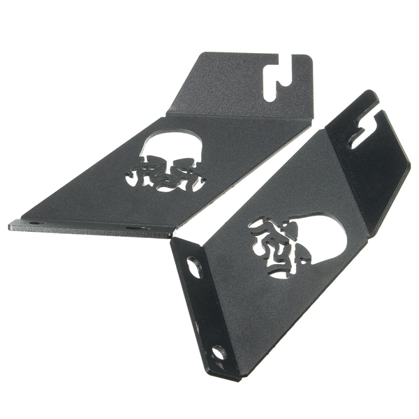 Pair 20inch-22inch LED Work Light Frame Hood Mounting Brackets For Jeep Wrangler 07-16