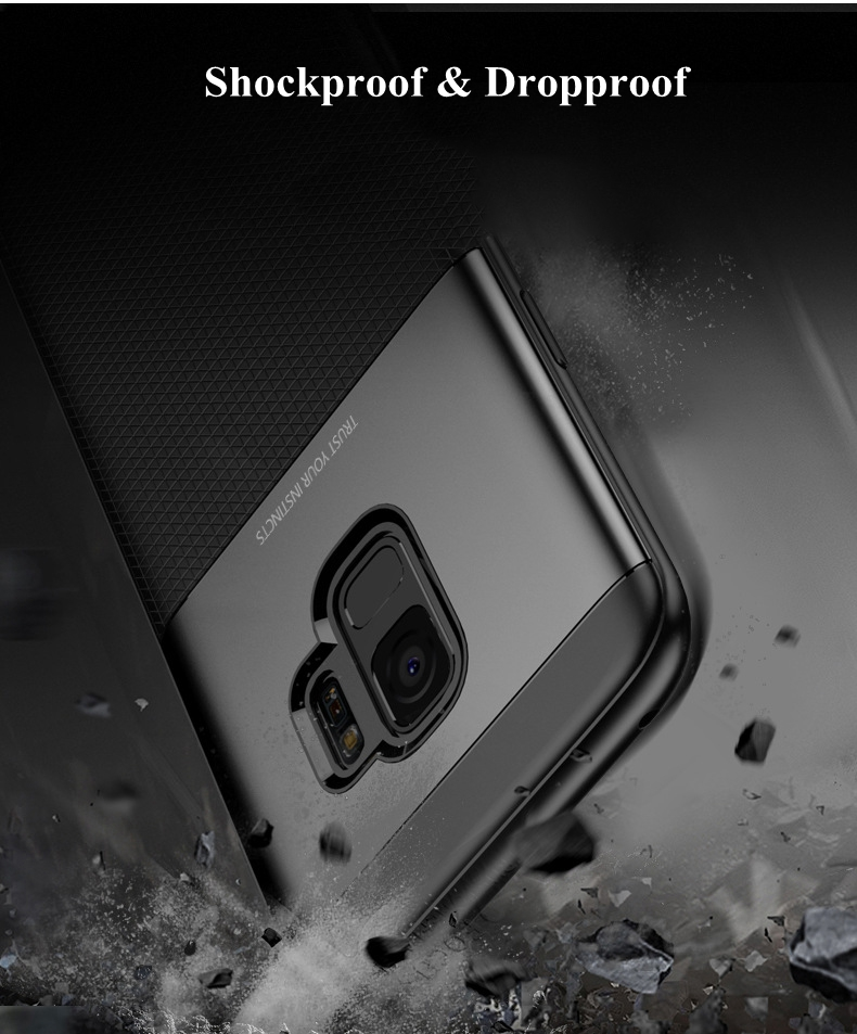 Bakeey Armor Shockproof Anti Fingerprint Hybrid PC & TPU Case For Samsung Galaxy S9 Plus