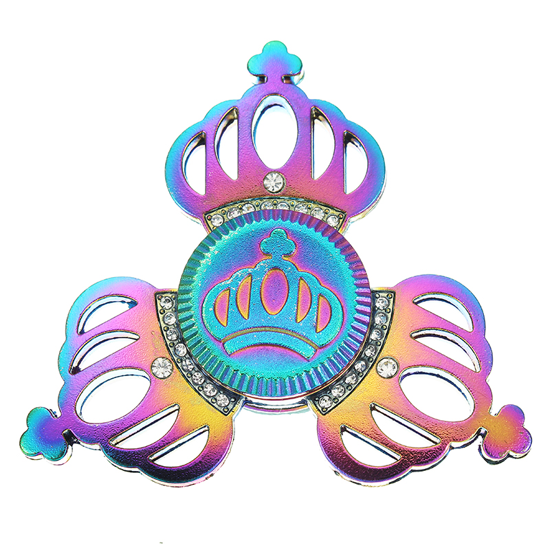 Tri-left Bright Color Crown Finger Spinner ADHD Autism Fingertips Fingers Gyro Reduce Stress