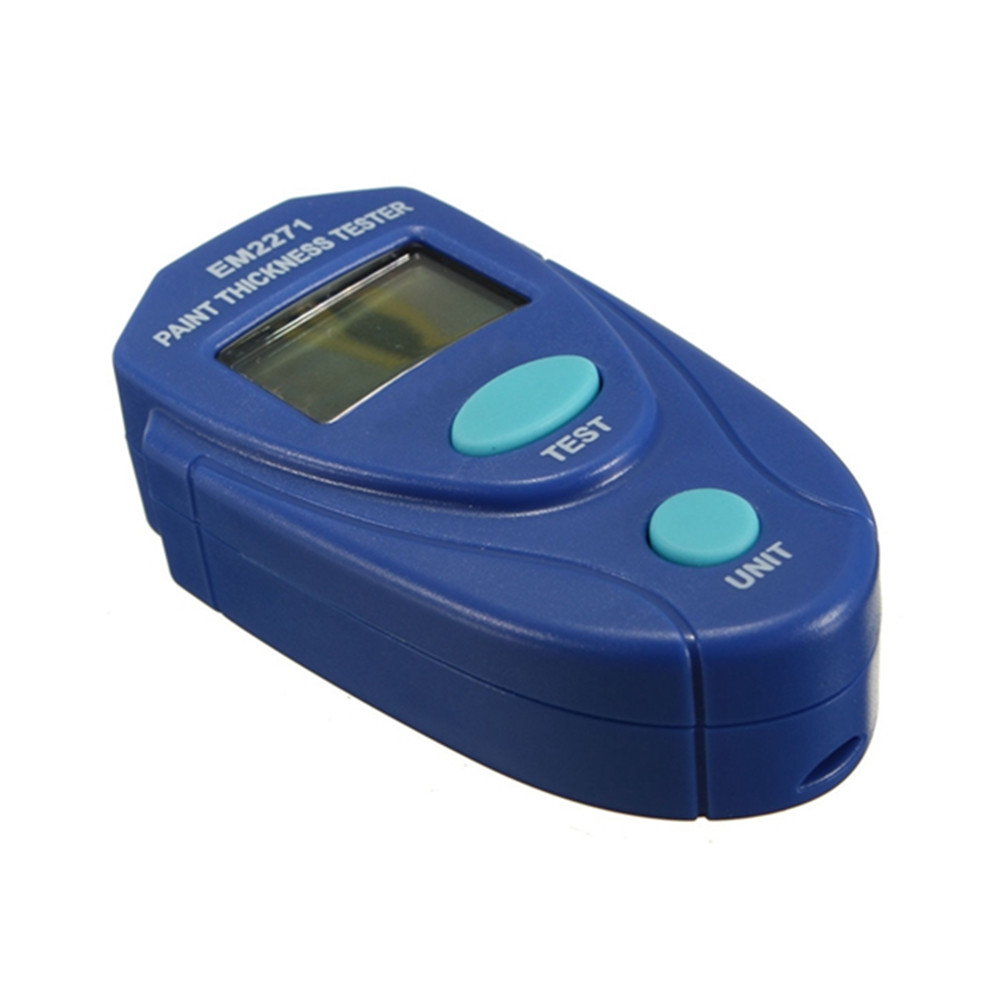 EM2271 Mini Thickness Gauge Coating Digital Painting Thickness Tester Meter Mini LCD Automotive Data Hold Car Coating Thickness Measurement Tool