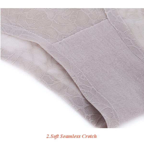 Woman Plus Size Comfy Ice Silk Underwear Seamless Breathable Ultra Thin Panties