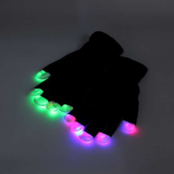 7 mode LED Finger Gloves Lighting Flashing Rave Decoration Toys Dance Party