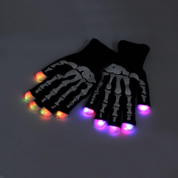 7 mode LED Finger Gloves Lighting Flashing Rave Toy Dan
