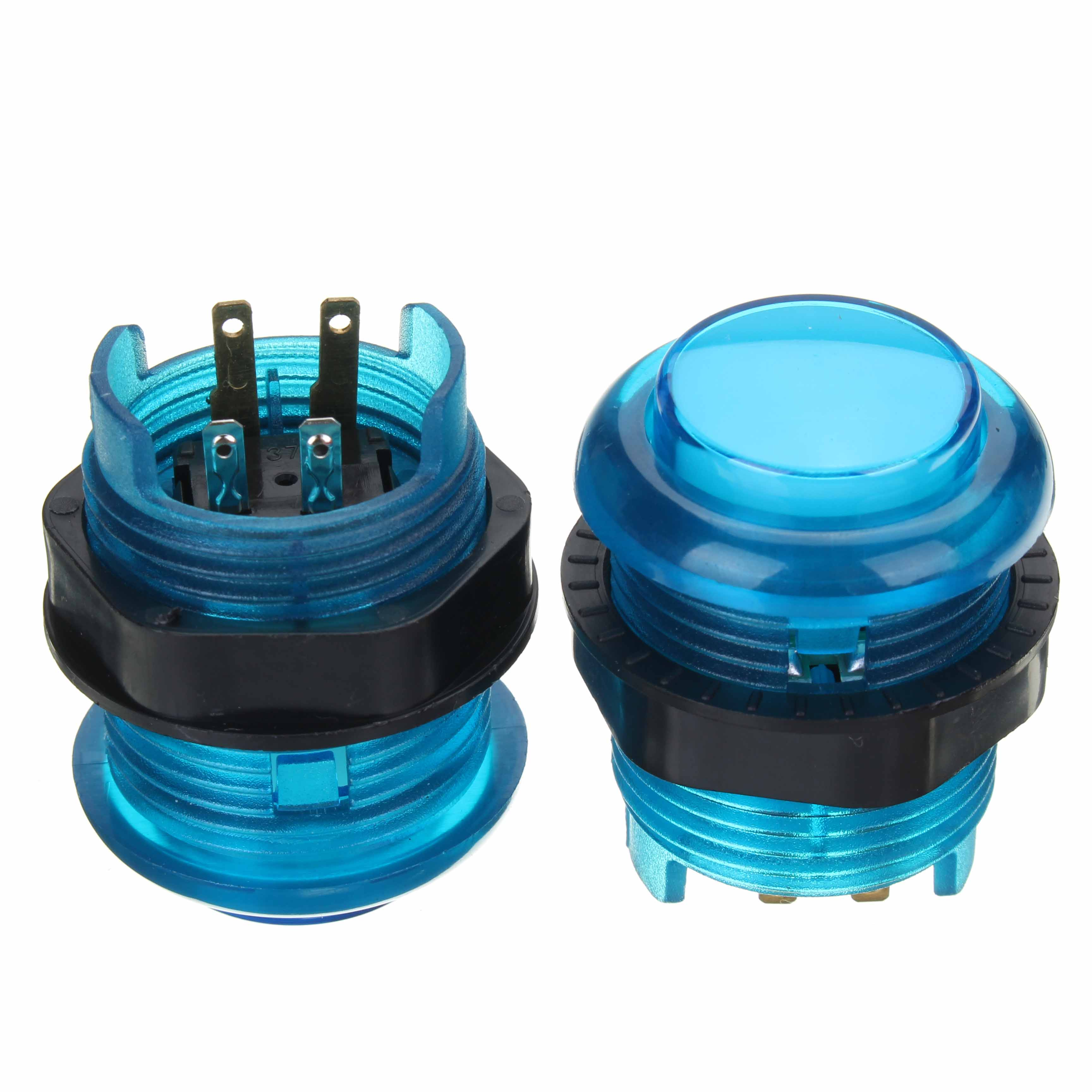 Blue Red LED Push Button Dual Joystick LED Encoder Light Cable Kit for Arcade Game Controller DIY