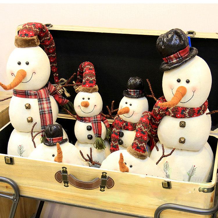 Weihnachten 2017 Leinen Schneemann Puppen Ornament Tisch Schreibtisch Dekoration Weihnachtsgeschenke für Kinder