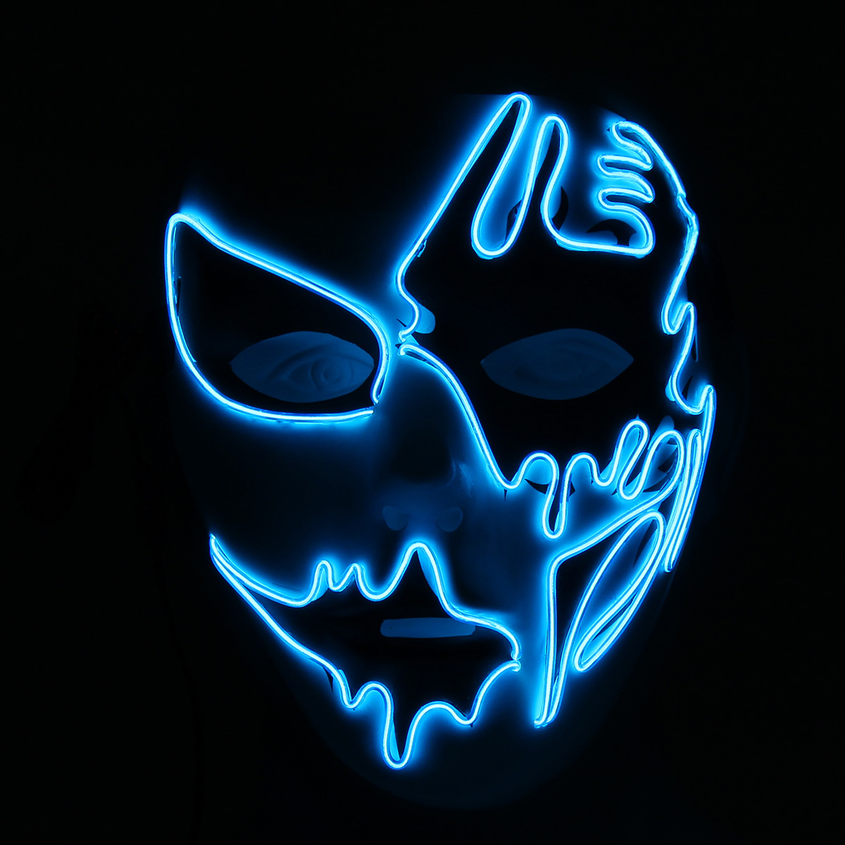 Halloween Mask LED Luminous Flashing Party Masks Light Up Dance Halloween Cosplay Props
