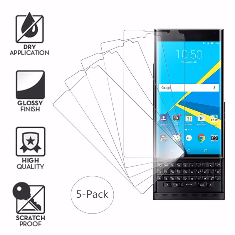 5 Pcs Clear HD Screen Protector Film Shield Guard For BlackBerry PRIV