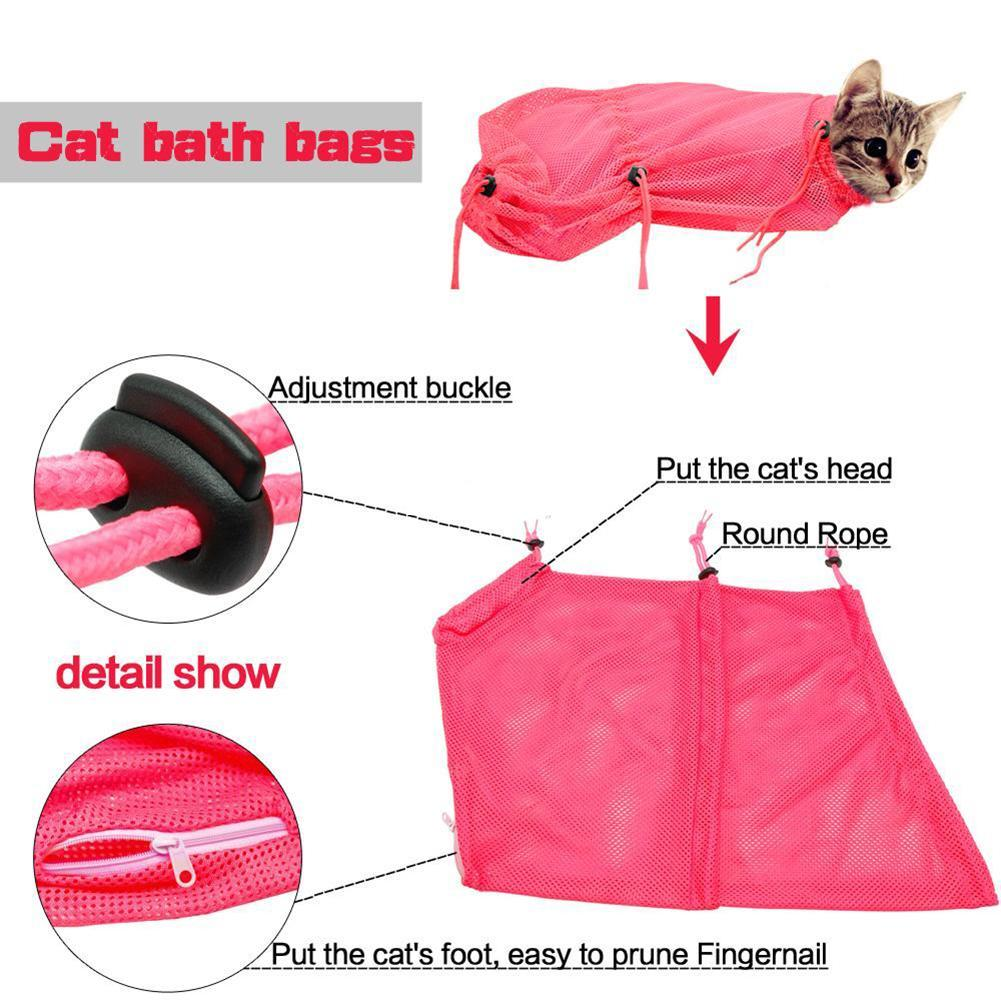 Pet Cat Multi-function Grooming Bags Nail Cutting Bath Protect Bags Pick Ear Blowing Hair Beauty Bag