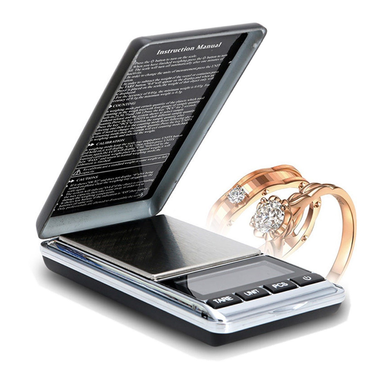 DANIU Electronic Pocket Mini Digital Gold Jewelry Weighing Scale Balance 0.01 200g/500g