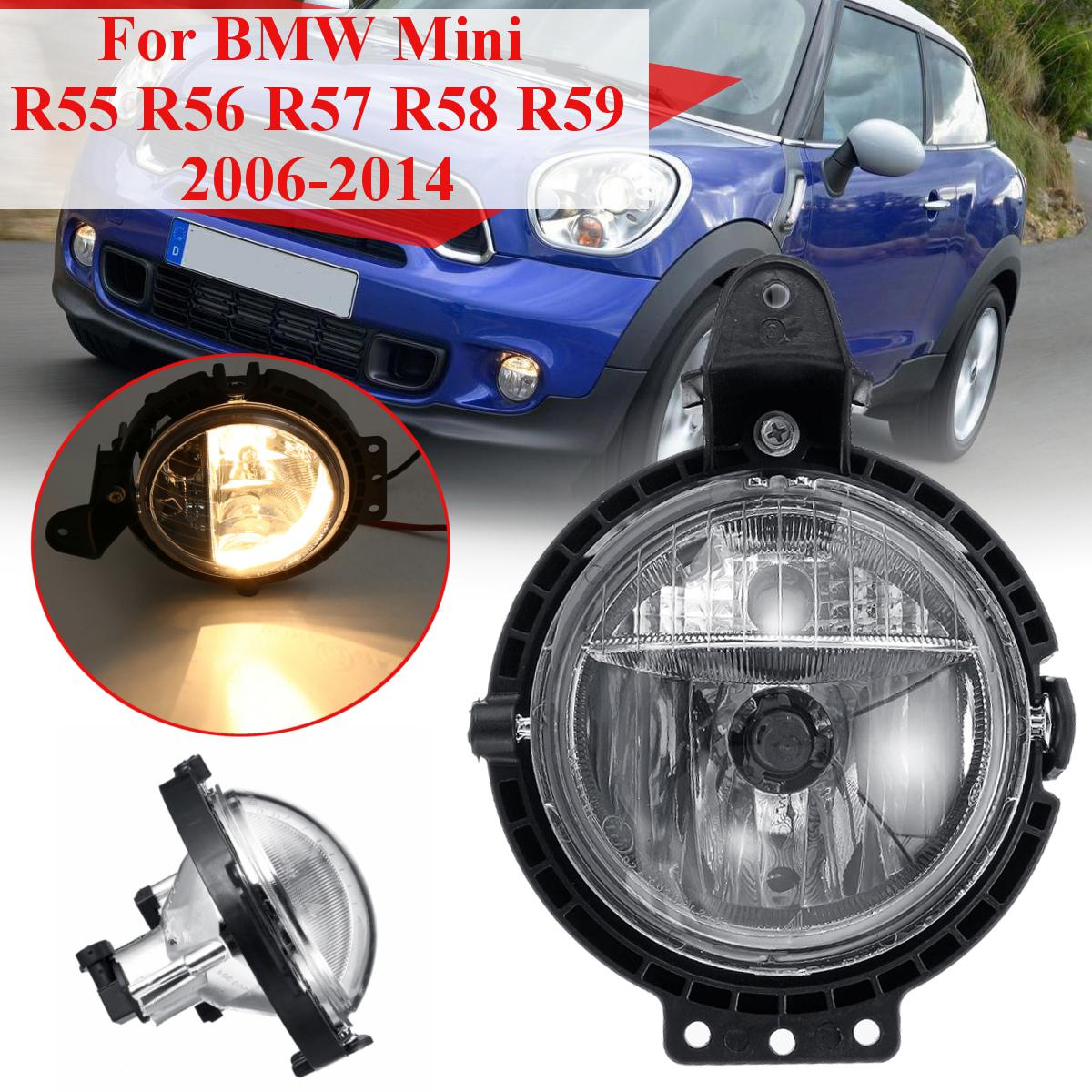 Car Front Bumper Fog Lights Lamp with Bulb Amber for BMW Mini R55 R56 R57 R58 R59 2006-2014