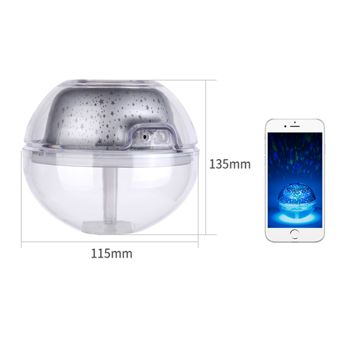 500ml LED Ultrasonic Essential Oil Humidifier