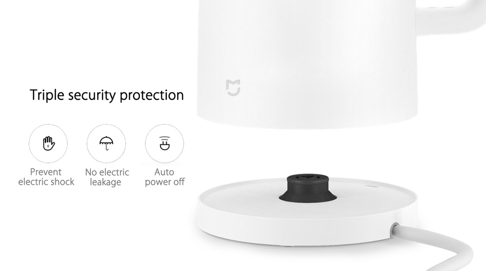 XIAOMI Mijia 1.5L / 1800W Electric Water Kettle 304 Stainless Steel 12hrs Temperature Control Time