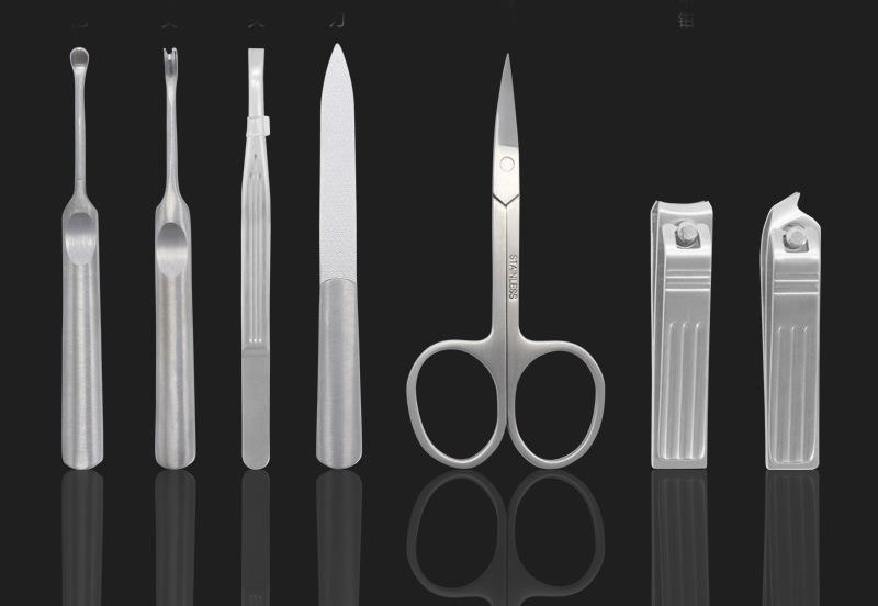 Y.F.M® 7pcs Stainless Steel Nail Clipper Set Beard Scissors