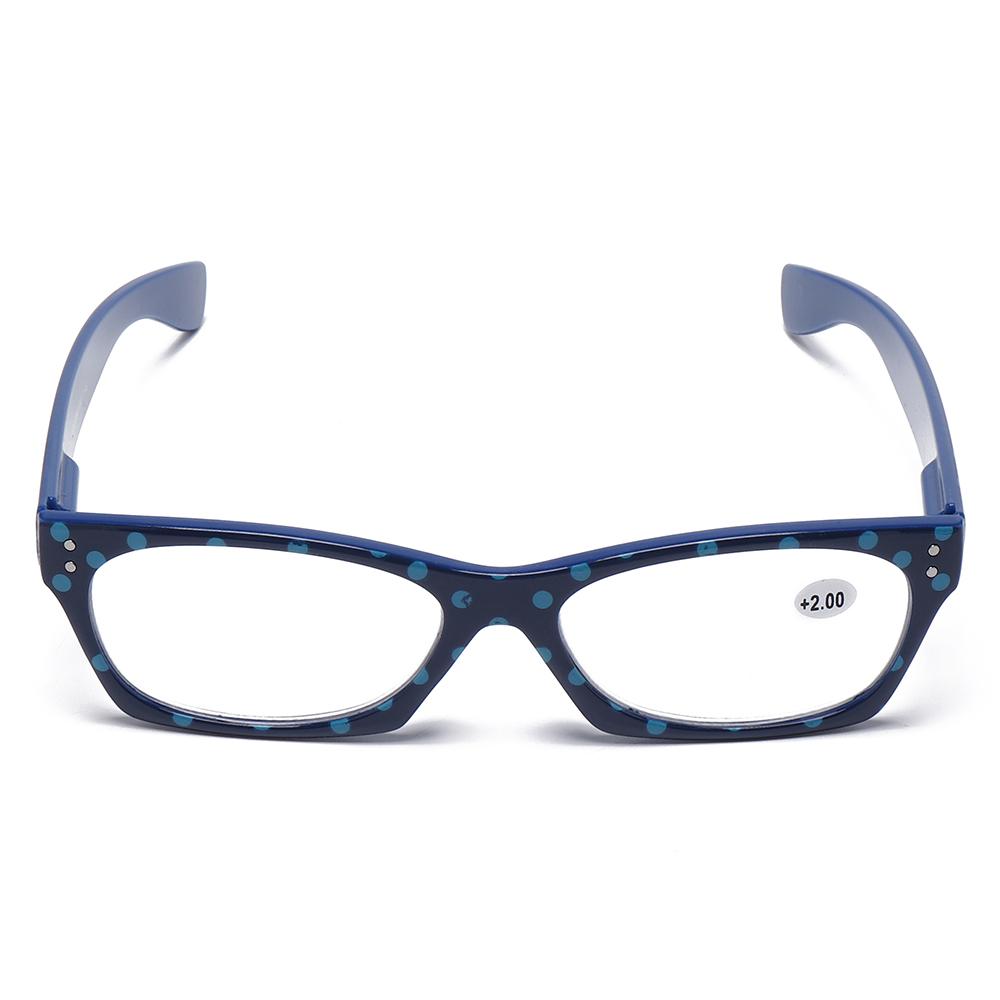 Womens Anti-fatigue Fashion Vintage Lightweoght Flexible Square Reading Glasses