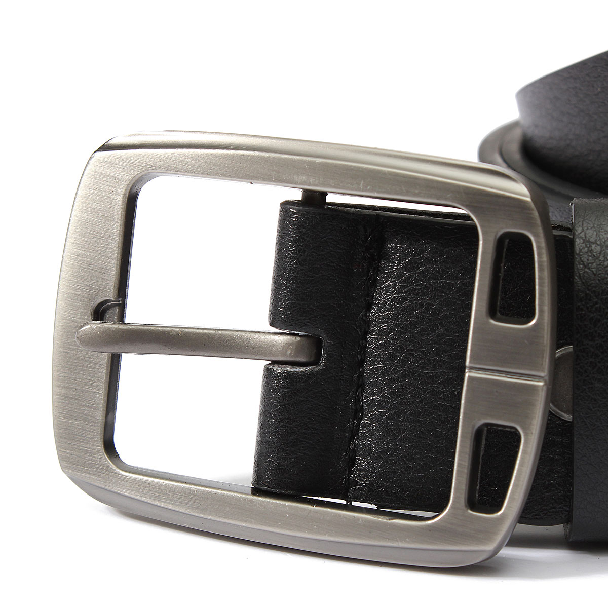 Men Peritoneal Second Layer Leather Belt Black Brown Pin Buckle Trousers Strip