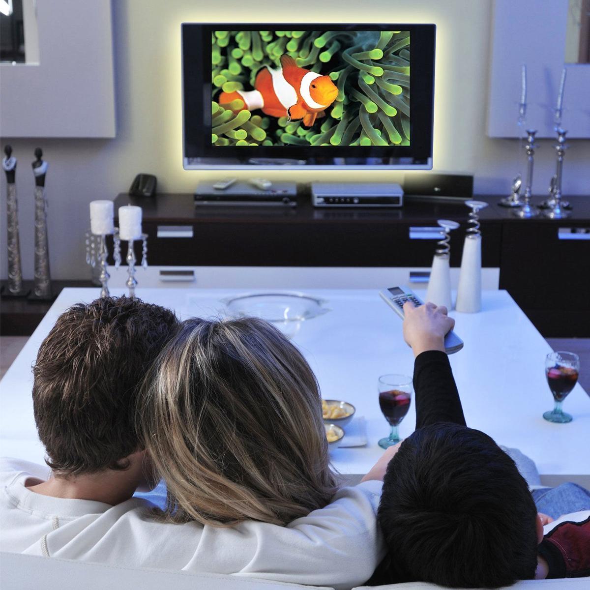 DC5V USB Powered SMD5050 RGB Color Change LED Strip Light Computer TV Backlight Kit
