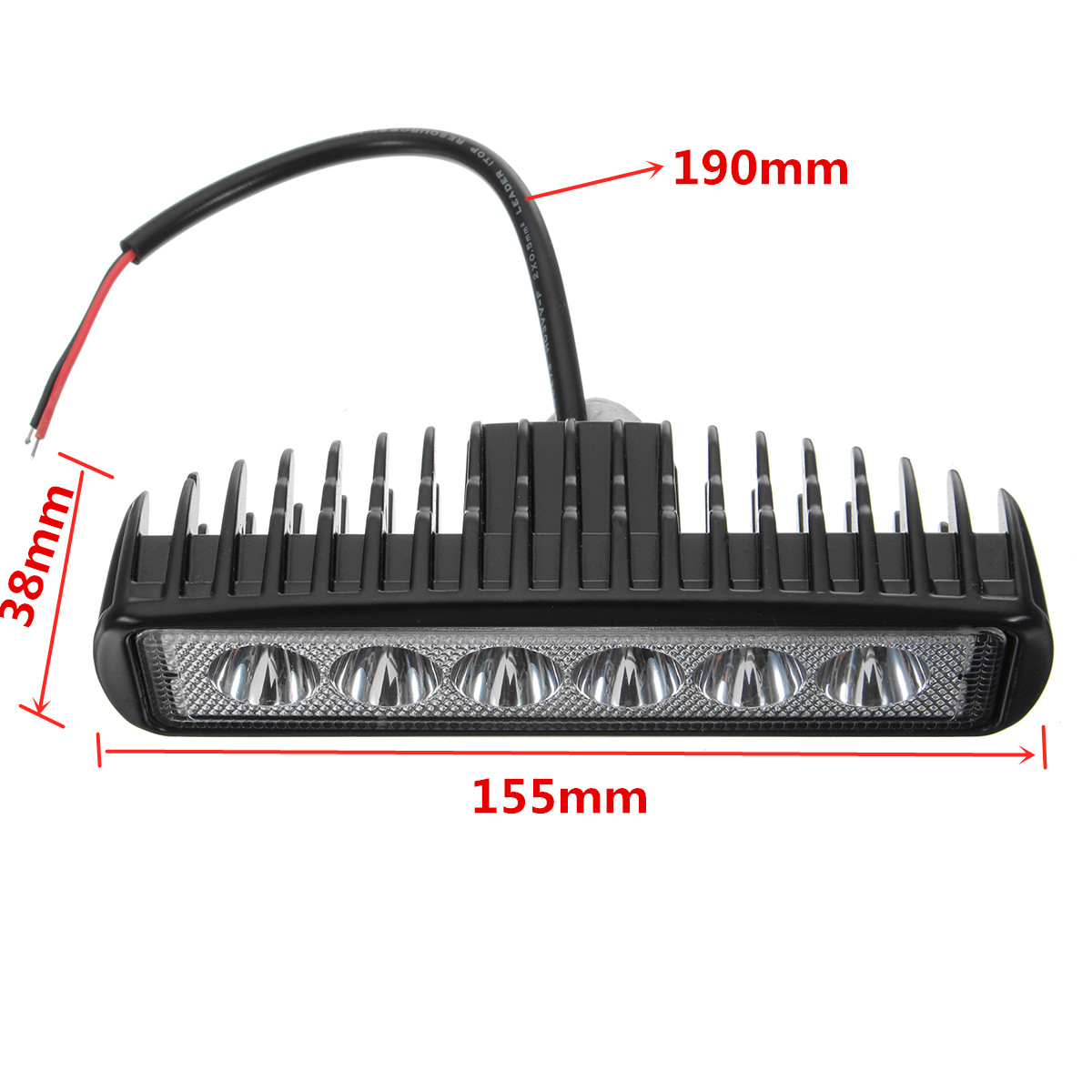 18W 6LED Off Road DRL LED Work Light Spot Beam Work Light 10-30V for Off Road Vehicle Truck Boat