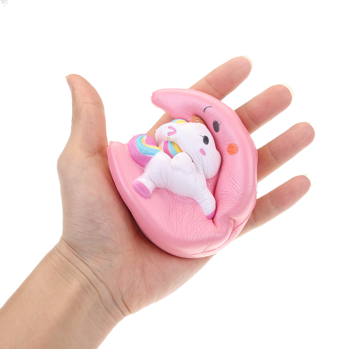 Moon Unicorn Squishy 11*10*4CM Slow Rising Soft Cartoon Gift Collection Soft Toy