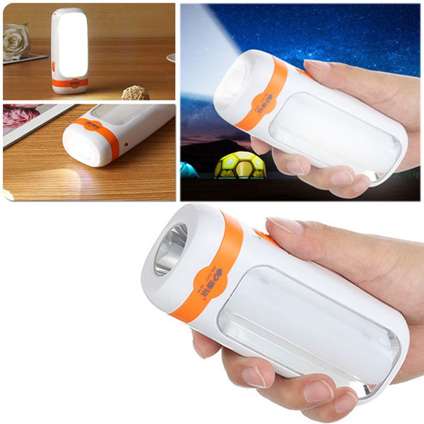 11 SMD LED Mini Torch Camping Rechargeable Lantern 2 Mo