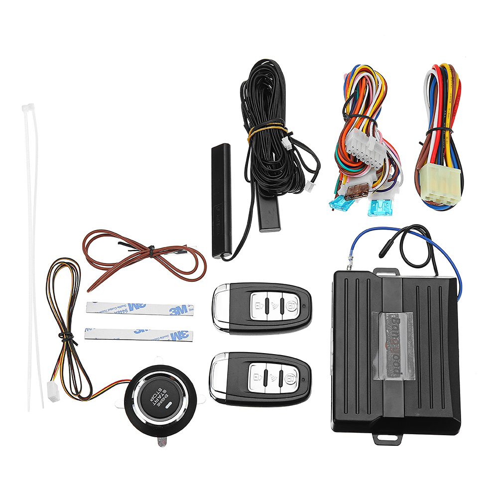 Universal Car PKE Passive Keyless Entry Alarm System Anti-theft Device with Remote Control Engine Push Start Button