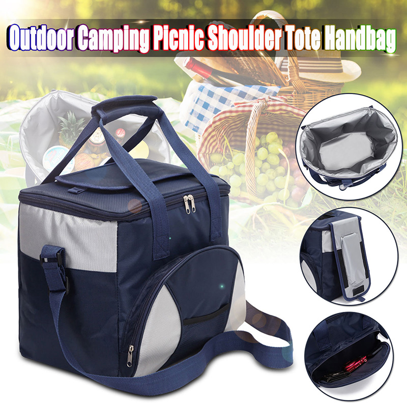 36x24x30cm Oxford Picnic Bags Thickening Lunch Handbag Cooler Bag Ice Pack Picnic Container