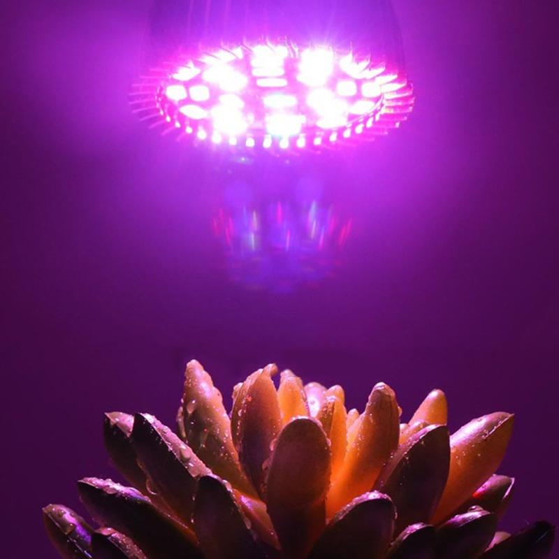 Garden Plant E27 18 28 LED Grow Light Bulb Full Spectrum Bulb Lights Indoor Plants Greenhouse Vegetable Flower Growth