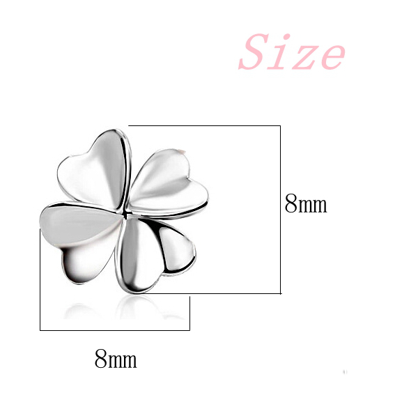925 Sterling Silver Sweet Lucky Flower Earrings For Women