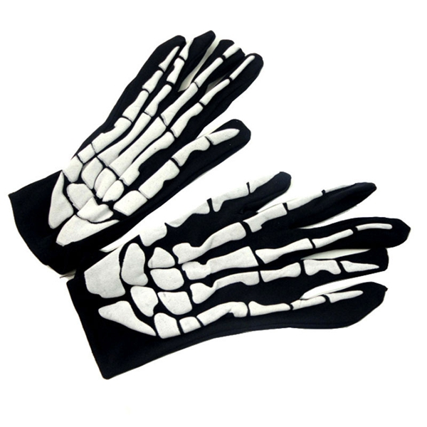 Halloween Skeleton Gloves Foaming Skeleton Costume Party Supplies Horrible Gloves