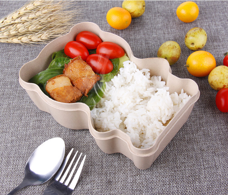 KC-BCH06 Portable Cute Bearl Lunch Boxs Food Fruit Storage Container Bento Safe Food Picnic Storage