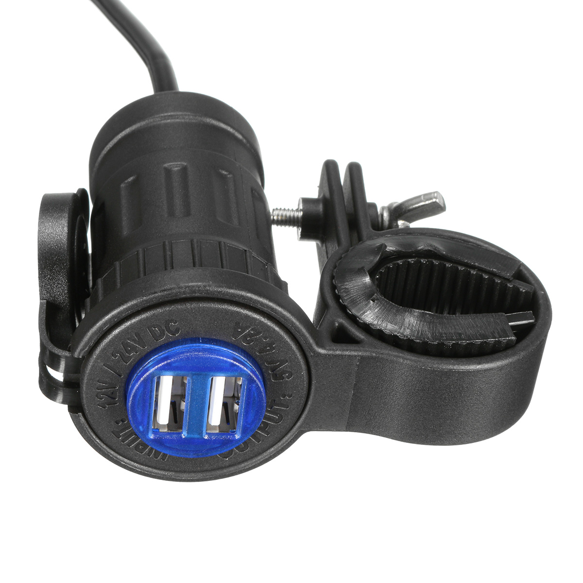 12-24V 4.2A Motorcycle Dual USB Charger Plug Socket For BMW/Truck/Triumph/Ducati/Hella