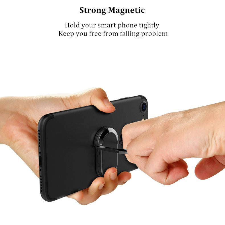3 in 1 Metal Strong Adhesive 360 Degree Rotation Finger Ring Stand Phone Holder for Samsung iPhone