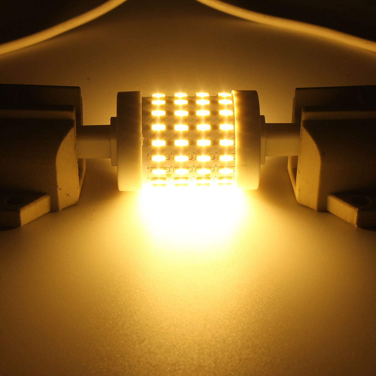 Dimmable R7S 78mm 5W 72 SMD 4014 350Lm Pure White Warm White LED Corn Light Bulb AC85-265V
