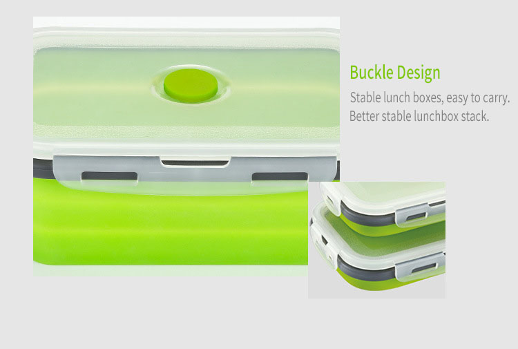 Honana Silicone Folding Bento Box Collapsible Portable Lunch Box For Food Dinnerware Food Container Food Bowl