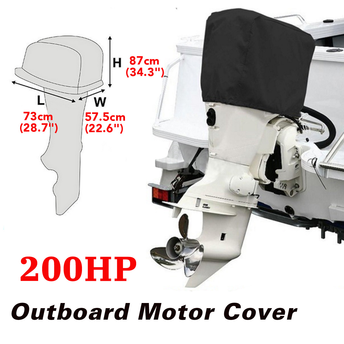 200Hp Half Outboard Boat Motor Engine Cover Dust Rain Protection Waterproof