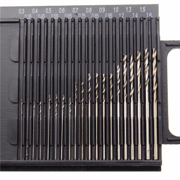 20pcs 0.3-1.6mm HSS Micro Twist Drill Bit Set Straight Shank Twist Drill Bits