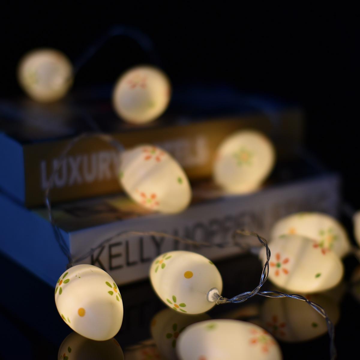 Battery Powered 10LED Easter Egg Fairy String HoliDay Light Lantern for Home Garden Hanging Decor