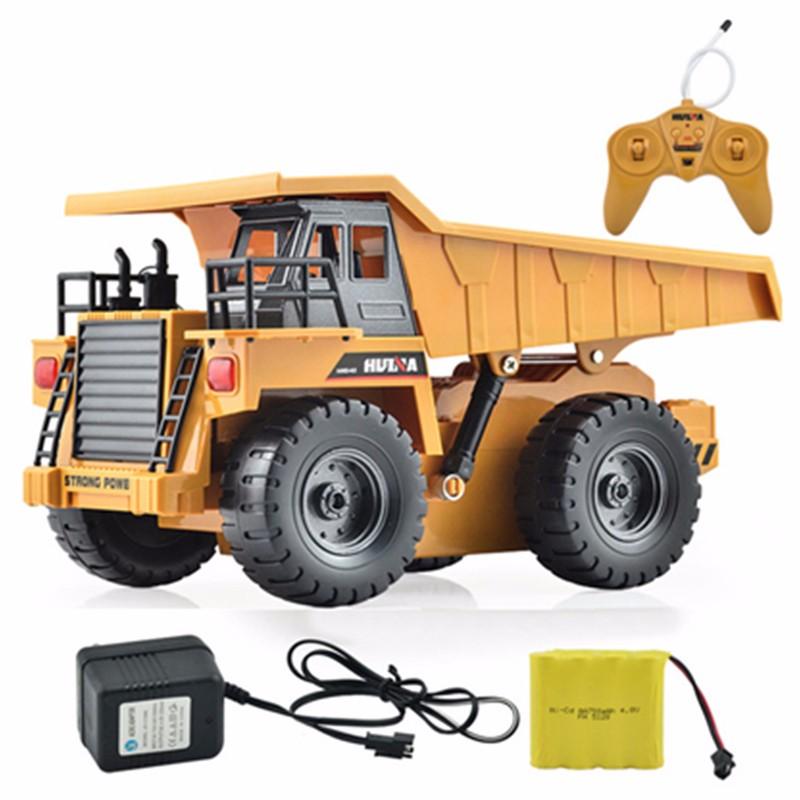 HuiNa Toys1540 Six Channel 1/18 RC Metal Dump Truck Charging RC Car