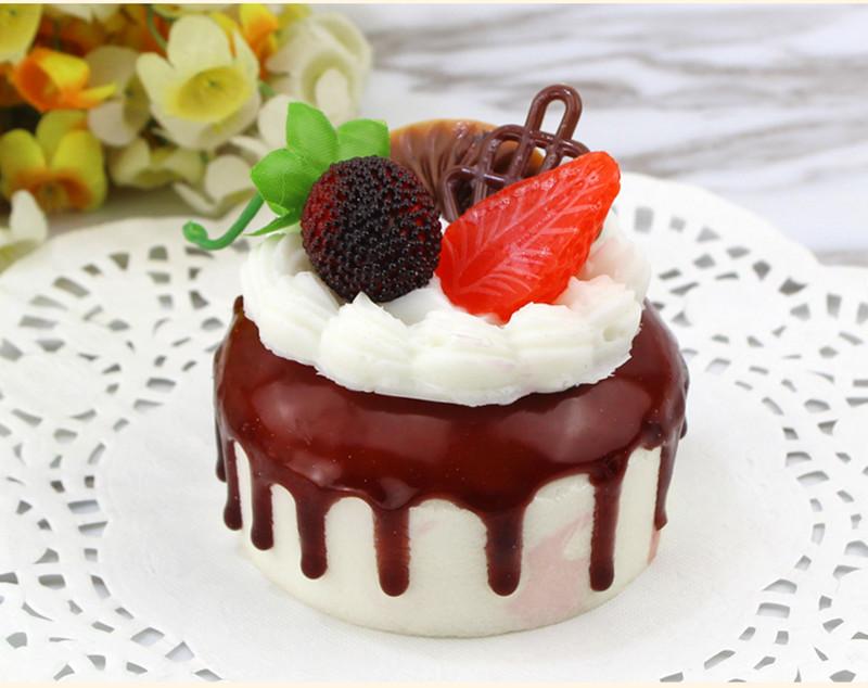 Squishy Cream Fruit Cake 7cm Sweet Soft Slow Rising Fridge Magnet Decor Collection Gift Toy