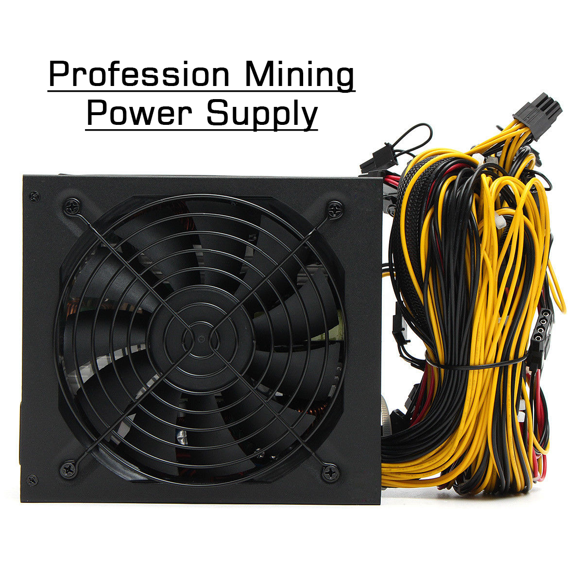 2000W ATX Gold Mining Power Supply SATA IDE 8 GPU for ETH BTC Ethereum