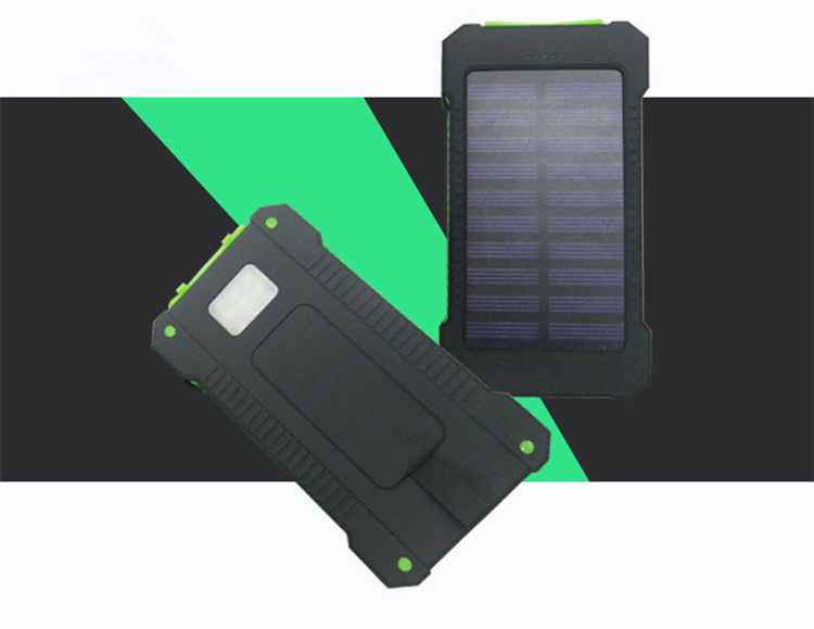 Bakeey F5 10000mAh Solar Panel LED Dual USB Ports DIY Power Bank Case Battery Charger Kits Box