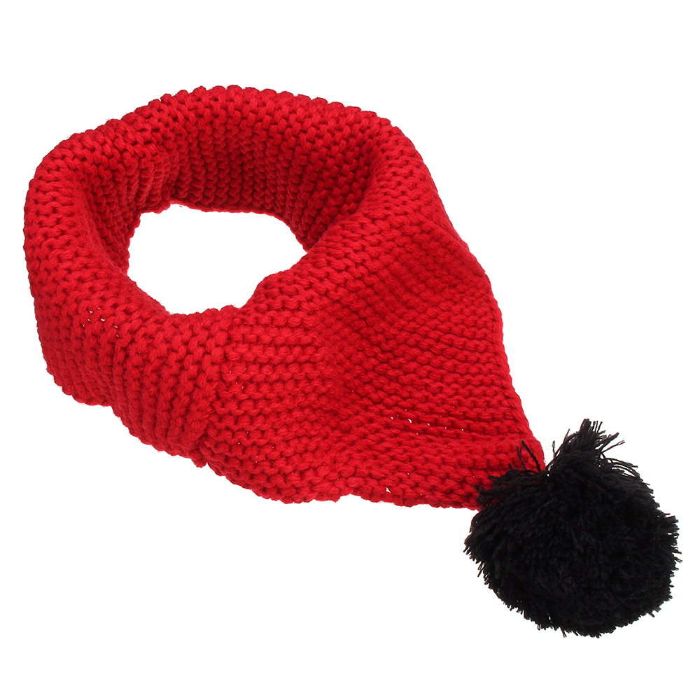 Winter Wool Children Collar Scarf Knitted Collar With Ball Neckerchief Clothing Accessories