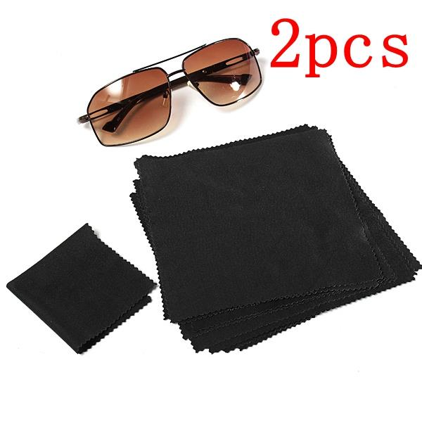2pcs 15X15cm Eyeglasses Reading Glasses Cleaning Cloth Camera Phone Screen Cleaner