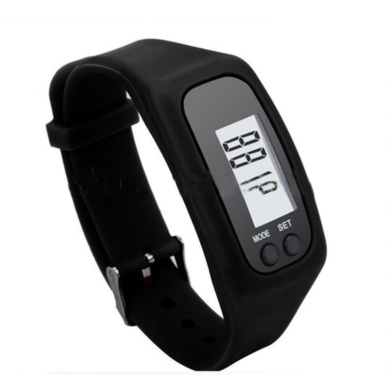 BIKIGHT Outdoor Electronics Sports Watche Digital Utility LED Pedometer Run Step Counter Watch Strap