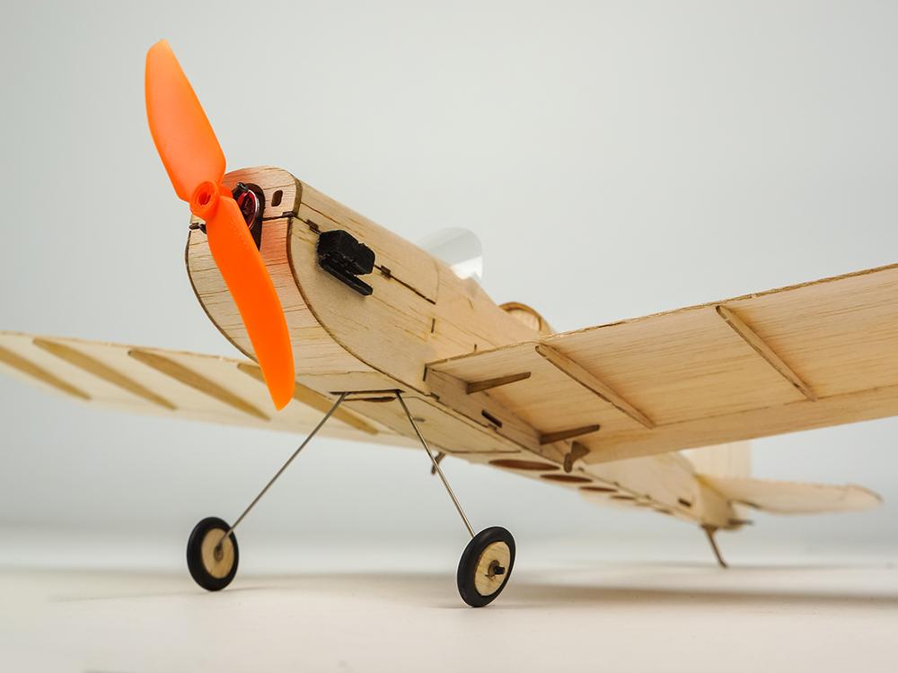 Mini Balsa Wood RC Airplane Model K9 Spacewalker Indoor/Park Fly 380mm Wingspan Aircraft Model Kits - Photo: 7