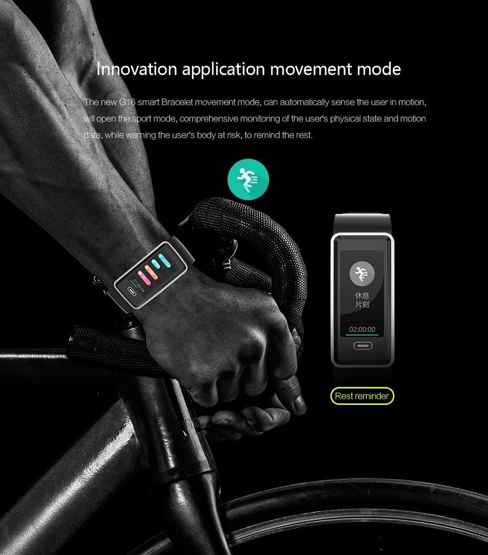 Bakeey G23 Real-time Blood Pressure HR Monitor Multi-Sport Fitness Tracker Long Standby Smart Watch Band