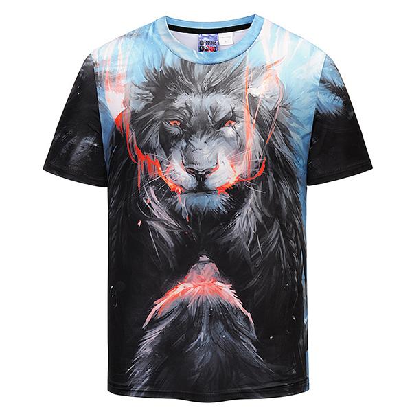 Summer Fashion Wrath Lion 3D Printed T-Shirts