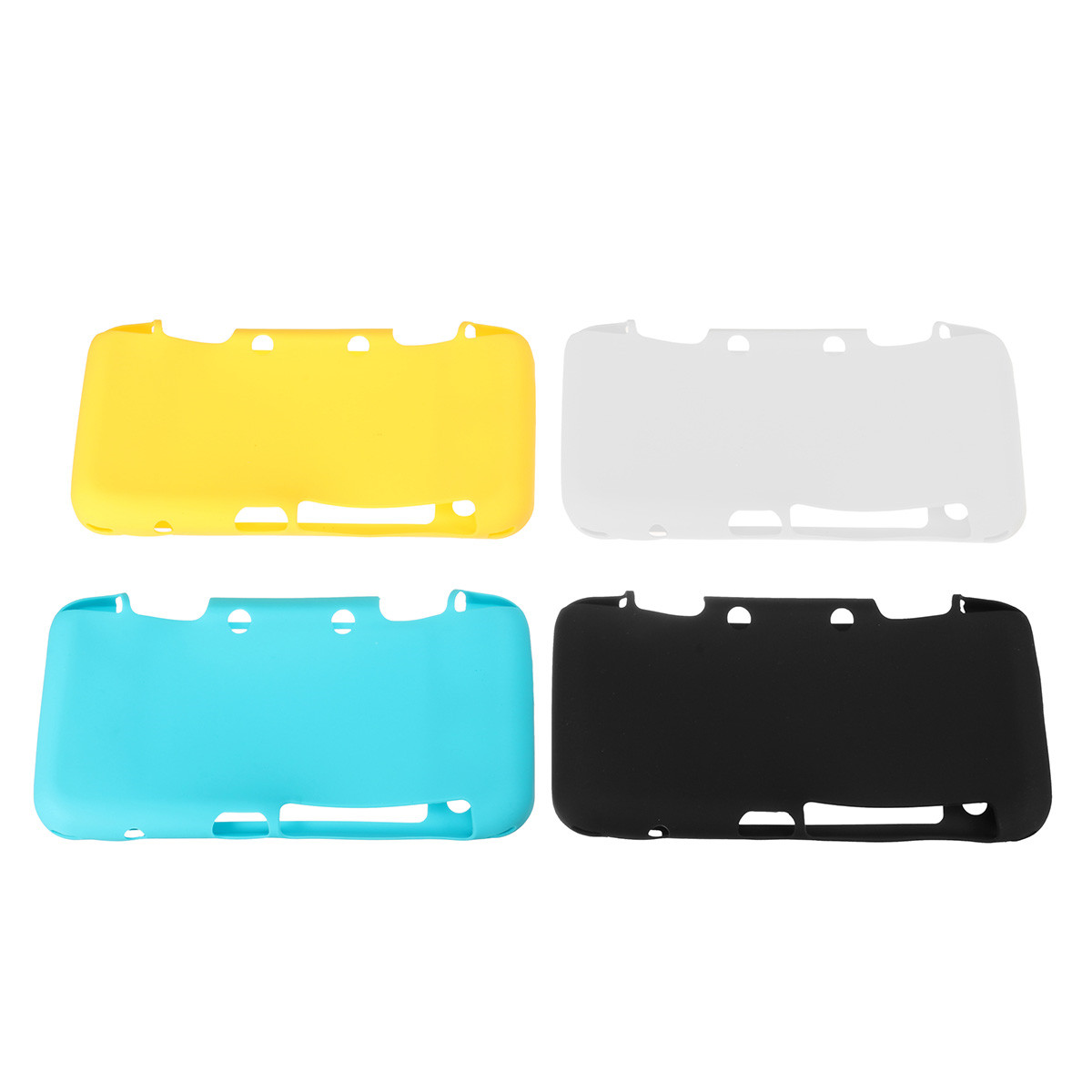Silicone Full Protective Cover Skin Game Machine Protectors Set For Nintendo NEW 2DS LL