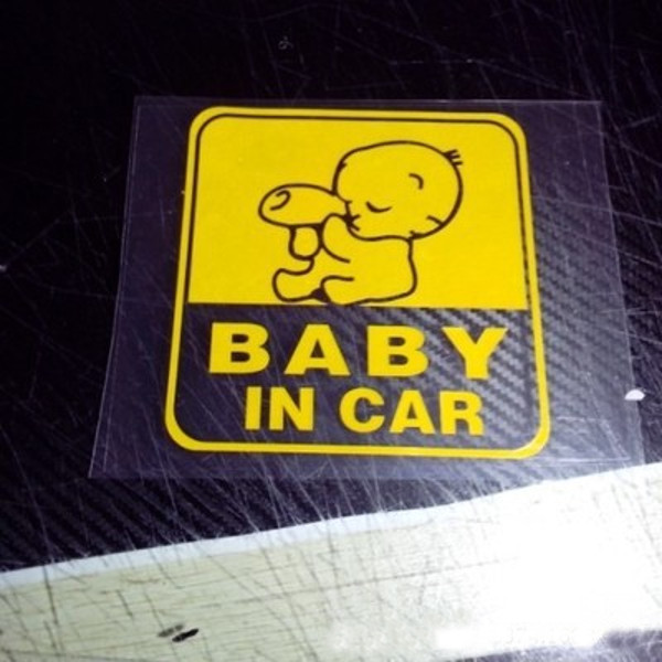 11x11cm Baby on Board Reflective Car Stickers Auto Truck Vehicle Motorcycle Decal